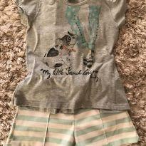 Conjunto shorts listradinho - 8 anos - Quimby
