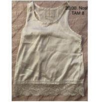 Blusa regata de sedinha da Nosh - 8 anos - Nosh