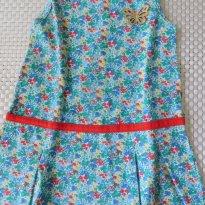 Vestido de Malha Estampado de Flores - 2 anos - Kyly