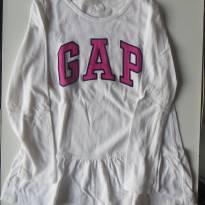 Blusa de Manga Comprida Baby Gap - Branca - 5 anos - Baby Gap