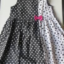Lindo Vestido Alphabeto - Bolinhas Pretas e Brancas - 4 anos - Alphabeto
