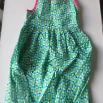 Lindo Vestido Alphabeto - Verde e Azul - 4 anos - Alphabeto