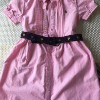 Vestido Ralph Lauren Rosa - Tamanho 7 - 7 anos - Ralph Lauren