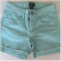 Bermuda Jeans com stretch GAP - Verde Bebe - 6 anos - GAP