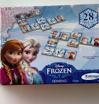 Jogo de Dominó Frozen - Sem faixa etaria - Xalingo