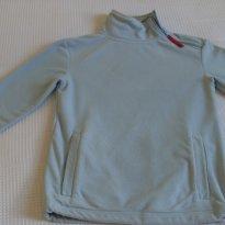 Casaco plush com detalhe em vermelho - 8 anos - Não informada