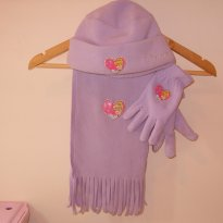 Conjunto de cachecol, touca e luvas das Princesas - 7 anos - George