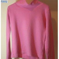 blusa malha rosa bebe - 14 anos - George