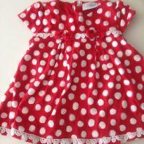 Vestido vermelho com bolinhas bebe Noruega - 6 a 9 meses - Noruega e Mini Noruegua