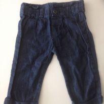 Calça jeans bebe unissex - 6 a 9 meses - Meu 1 Jeans