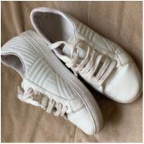 Tênis couro branco, tam39, corello