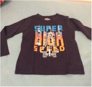 Kit 2 camisetas manga longa, Carters, tam 4 - 4 anos - OshKosh e Carter`s