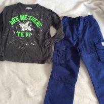 Kit calca e camiseta, Carters, oshkosh, importada, tam4 - 4 anos - Carter`s e OshKosh