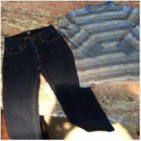 Kit jeans Gap Kids e camiseta ML Carters, importado, tam 5 - 5 anos - Gap Kids e Carter`s