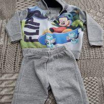 conjunto de moletom Mickey - 0 a 3 meses - Disney