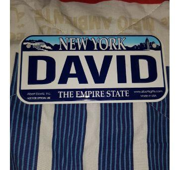 Placa metal decorativa David - Sem faixa etaria - New born USA