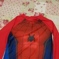 Camiseta Proteção Solar praia  homem aranha - 8 anos - MARVEL