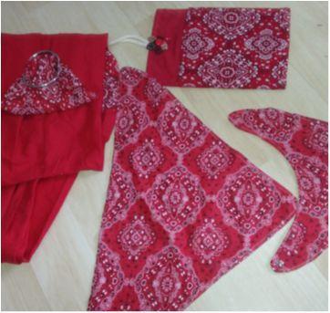 Canguru Argolas, bandanas vermelho - Sem faixa etaria - Variadas