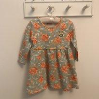 Vestido floral interior peluciado Milon com strass tam 2 pouco usado - 2 anos - Milon