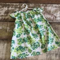 Vestido estampa floral verde Ateliê de Princesas com tapa fralda tam 2 - 2 anos - Outra
