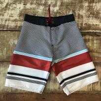 Bermuda em náilon Zara listras tamanho 7/8 nunca usada - 8 anos - Zara