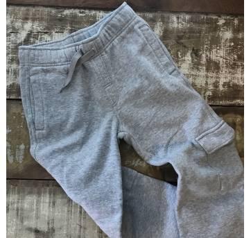 Calça cinza de moletom Gymboree tamanho 8 interior peluciado - 8 anos - Gymboree