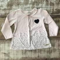 Blusa manga longa Milon tamanho 2 corações - 2 anos - Milon