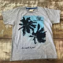 Camiseta Hrradinhos cinza palmeiras pouco usada tamanho 8 - 8 anos - hrradinhos