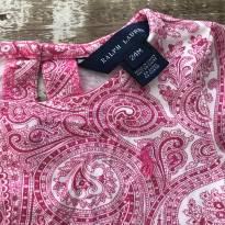 Vestido Ralph Lauren com calcinha estampa cashmere rosa tam 24 meses NUNCA USADO - 2 anos - Ralph Lauren