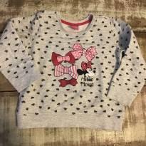 Blusão Minnie cinza, laços e mini corações Disney Renner tamanho 3 - 3 anos - Disney