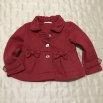 Casaco vermelho Petit Cherie interior peluciado tamanho 3 pouquíssimo usado - 3 anos - Petit Cherie