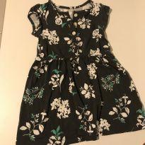 Vestido floral fundo cinza chumbo Carter's 3T - 3 anos - Carter`s