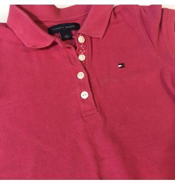 Vestido Tommy Hilfiger gola pólo rosa 3T - 3 anos - Tommy Hilfiger