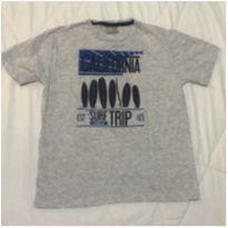 Camiseta Milon USADA UMA VEZ cinza mescla tam 8 California Surf