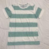 Camiseta flamê listrada Carter's tam 8 pouco usada - 8 anos - Carter`s