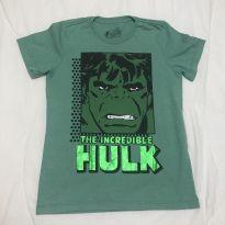 Camiseta Hulk inscrição metalizada tam 8 Renner - 8 anos - MARVEL