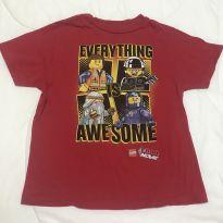 Camiseta importada vermelha Lego Movie tam 8 - 8 anos - Lego