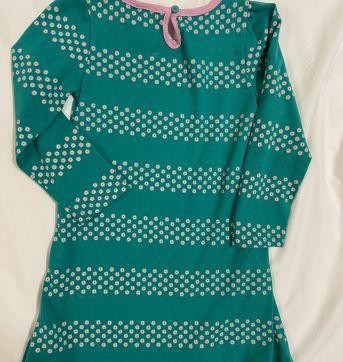 Vestido manga longa verde margaridas gola rosa Gymboree tam 3T. - 3 anos - Gymboree