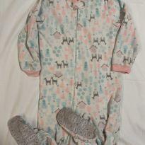 Pijama Carter's macacão microfleece neve e renas - 5 anos - Carter`s