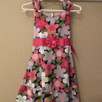 Vestido floral Dollie & Me tamanho 3