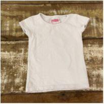 Blusa POIM branca com elastano tam 3-4 anos - 4 anos - Poim