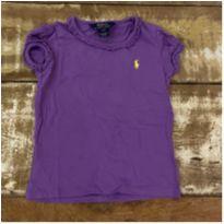 Blusa roxa com babados Polo Ralph Lauren tam 3 - 3 anos - Polo Ralph Lauren