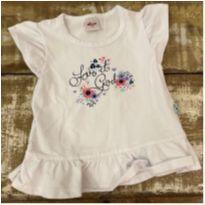 Blusa branca malha Elian tam 3 com babado Love it Girl - 3 anos - Elian