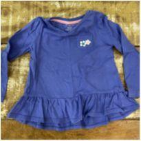 Blusa manga longa azul com babados Gymboree 2T - 2 anos - Gymboree