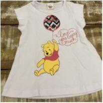 Camiseta Winnie the Pooh tam 3 com brilho - 3 anos - Fakini