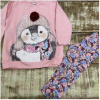 Conjunto inverno Pinguim Fakini tam 3 - 3 anos - Fakini Kids