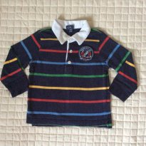 Camisa polo GAP colorida  manga longa - 1 ano - 1 ano - Baby Gap