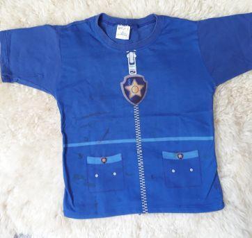 Lote - 2 Camisetas Patrulha Canina 3/4 anos - 4 anos - Não informada