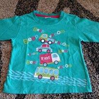 Camiseta carrinho - 18 meses - Desauner confecções