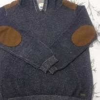 Suéter com capuz- grafite - 4 anos - PUC
